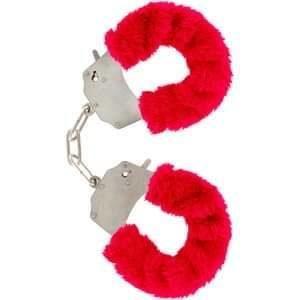 Paire de Menottes Rouge avec Fourrure
