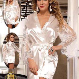 Kimono Soie et Dentelle Douceur Taille XL