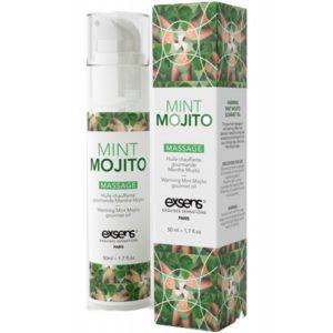 Huile de Massage Chauffante Comestible Mojito 50ml Exsens