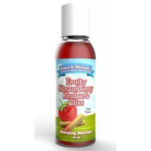 Huile de Massage Chauffante Fraise Rhubarbe Swede 50 ml