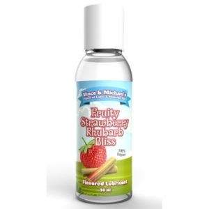 Lubrifiant Comestible Saveur Fraise Rhubarbe 50 ml