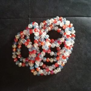Ceinture en perles/ Ferr Tricolore