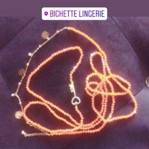 Ceinture en perles/ Bine-Bine Binta Orange