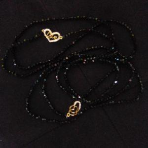 2 Ceintures en perles/ Bine-Bine Amy Noir