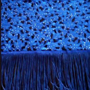 Petit Pagne Maxi Effet Fleur Bleu