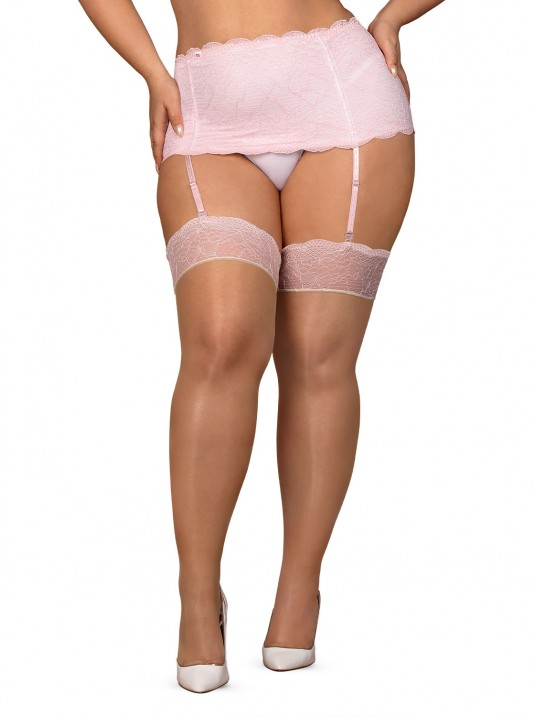Paire de Bas QUEEN SIZE GIRLLY Obsessive Rose XXL